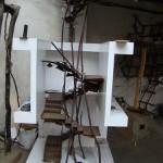 la maquette de l'escalier