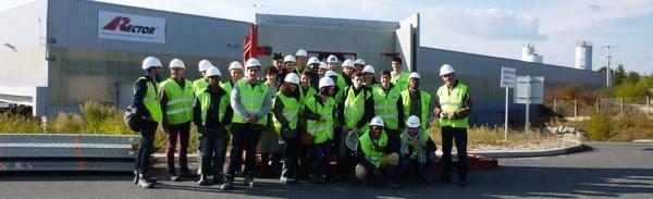 Premières visites de chantier pour des BTS du LMB de Felletin