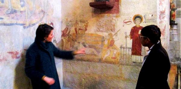 Découverte du patrimoine local pour les élèves de mention complémentaire peinture décoartion