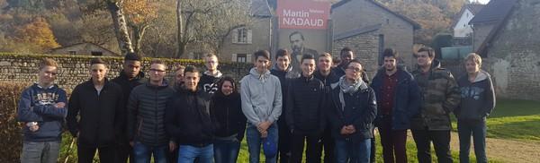 sortie pédagogique pour les Bacs Pro au musée Martin Nadaud à la Martineche