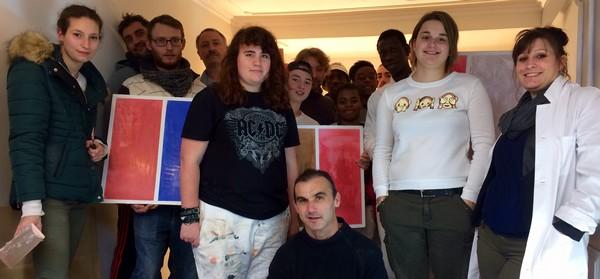 Journée technique au LMB de Felletin sur l'application de peinture à la chaux