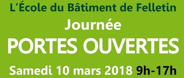 Journée portes ouvertes 2018 : retenez la date du 10 mars !