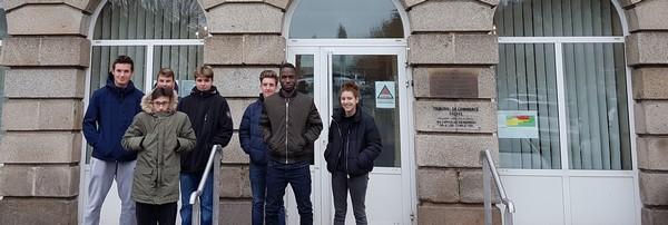 Première sortie au palais de justice de Guéret