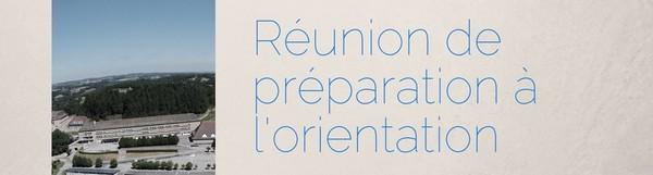 Réunion de préparation à l'orientation