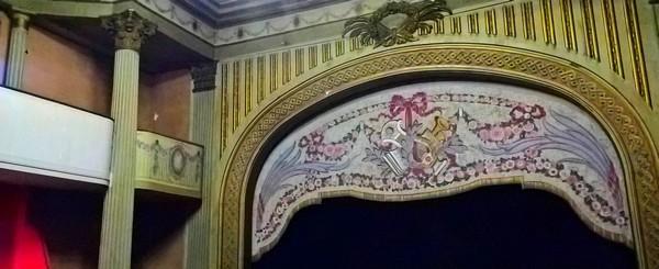Visite du théâtre à l'italienne de Guéret par les mention complémentaire peinture décoration