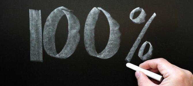 100 % de réussite !