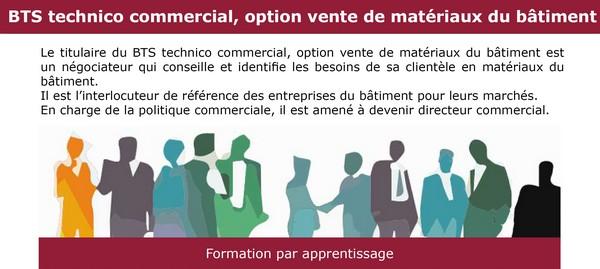 Nouveauté ! Ouverture d'un BTS Technico-commercial, option vente de matériaux du bâtiment à Felletin et à Aubusson