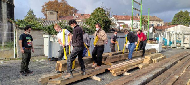 Les apprenants de BP Charpente participent au projet de réalisation de la travée à échelle réelle de Notre-Dame.